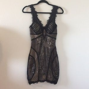 Bebe Lace Mini Dress